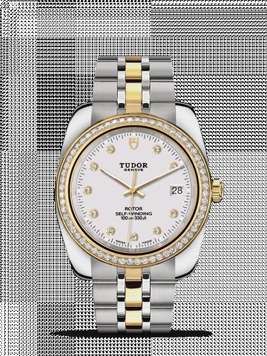 Tudor M21023-0002 : Classic 38 Stainless Steel / Yellow Gold / Diamond / White-Diamond / Bracelet