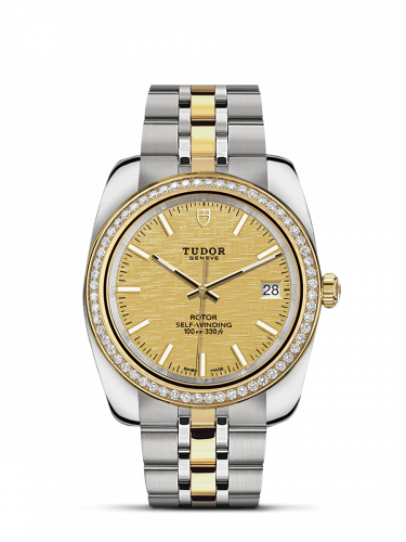 Tudor M21023-0009 : Classic 38 Stainless Steel / Yellow Gold / Diamond / Champagne / Bracelet