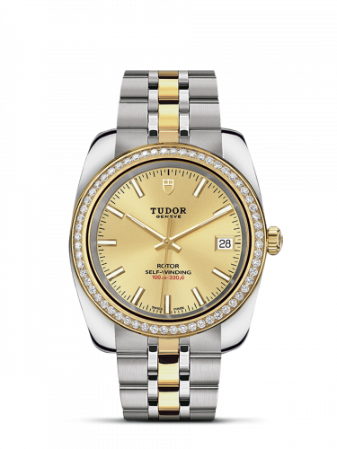 Tudor M21023-0011 : Classic 38 Stainless Steel / Yellow Gold / Diamond / Champagne / Bracelet