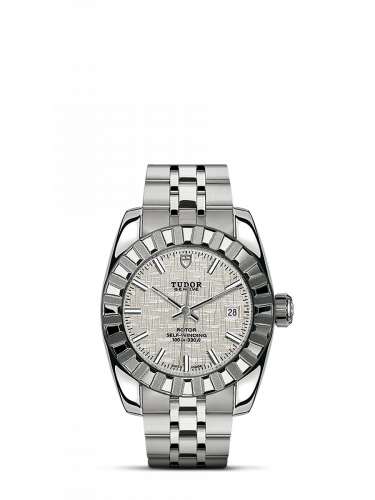 M22010-0010 : Tudor Classic 28 Stainless Steel / Fluted / Silver / Bracelet
