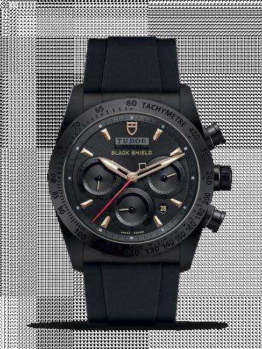 Tudor 42000CN-0005 : Fastrider Black Shield Ceramic / Black-Sand / Rubber