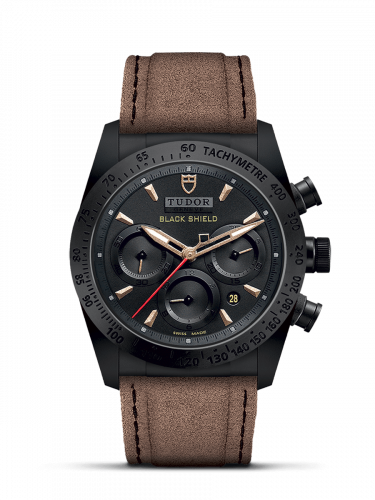 Tudor 42000CN-0016 : Fastrider Black Shield Ceramic / Black-Sand / Alcantara