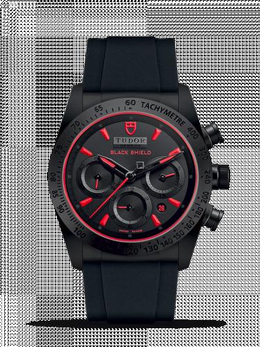 Tudor 42000CR-0001 : Fastrider Black Shield Ceramic / Black-Red / Rubber