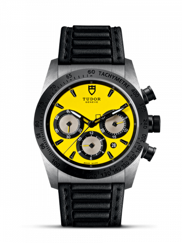 42010N-0002 : Tudor Fastrider Chrono Yellow / Leather