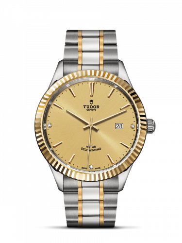 Tudor M12713-0007 : Style 41 Stainless Steel / Yellow Gold / Fluted / Champagne-Diamond / Bracelet
