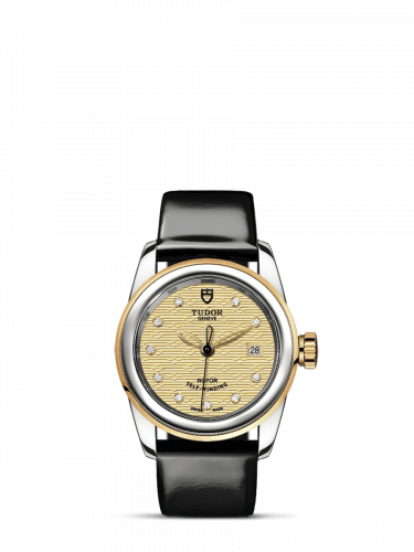 M51003-0021 : Tudor Glamour Date 26 Stainless Steel / Yellow Gold / Jacquard Champagne-Diamond / Strap