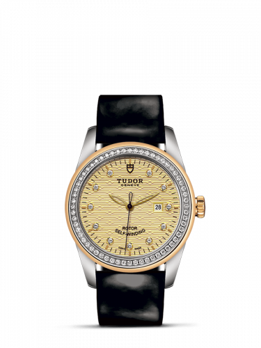 M53023-0047 : Tudor Glamour Date 31 Stainless Steel / Yellow Gold / Diamond / Jacquard Champagne-Diamond / Strap