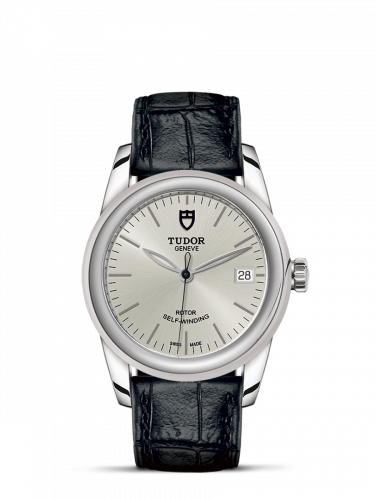 Tudor M55000-0042 : Glamour Date 36 Stainless Steel / Silver / Strap