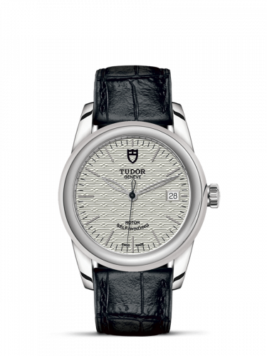 Tudor M55000-0050 : Glamour Date 36 Stainless Steel / Jacquard Silver / Strap
