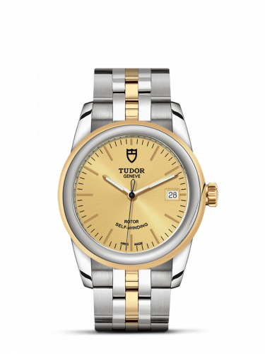 Tudor M55003-0005 : Glamour Date 36 Stainless Steel / Yellow Gold / Champagne / Bracelet