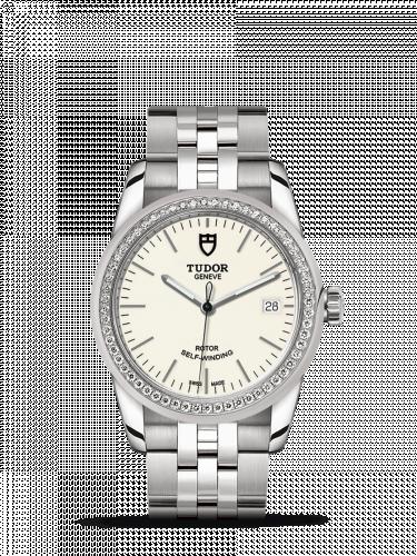 Tudor M55020-0095 : Glamour Date 36 Stainless Steel / Diamond / Opaline / Bracelet