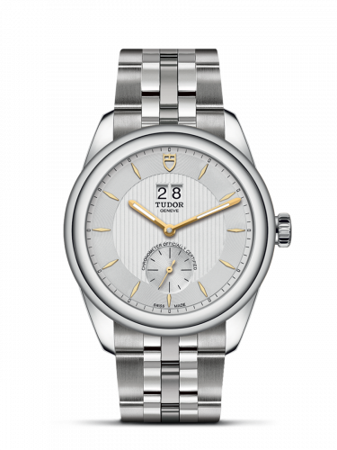 M57100-0002 : Tudor Glamour Double Date Stainless Steel / Silver-Gold / Bracelet