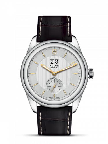 Tudor M57100-0017 : Glamour Double Date Stainless Steel / Silver-Gold / Strap