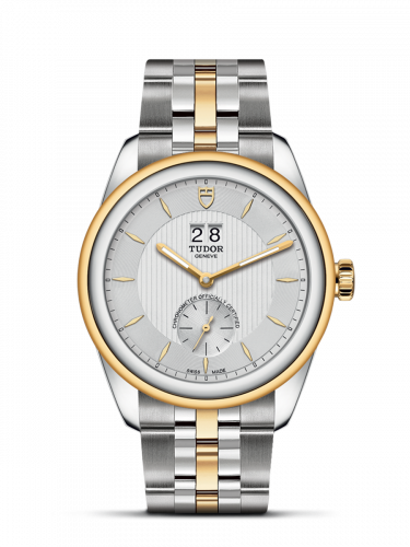 Tudor M57103-0001 : Glamour Double Date Stainless Steel / Yellow Gold / Silver/ Bracelet
