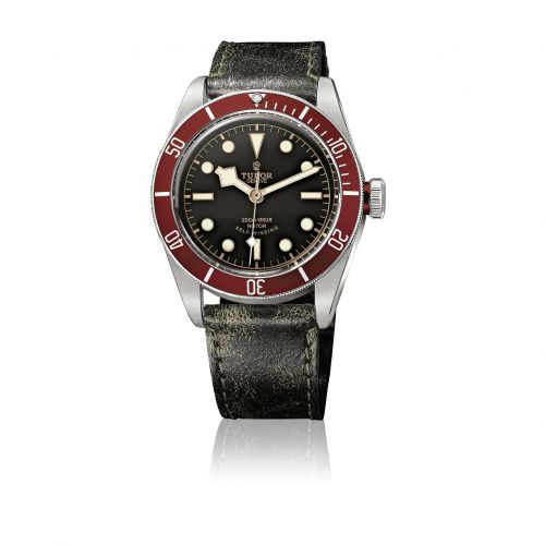 Tudor 79220R-0002 : Heritage Black Bay Red / Strap