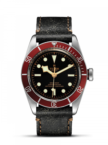 Tudor 79230R-0002 : Heritage Black Bay Red Manufacture / Strap