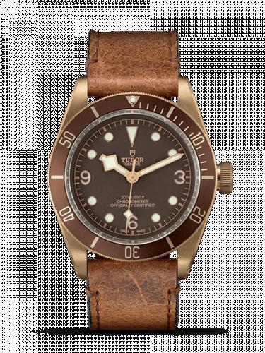 Tudor 79250BM-0001 : Heritage Black Bay Bronze / Brown / Leather