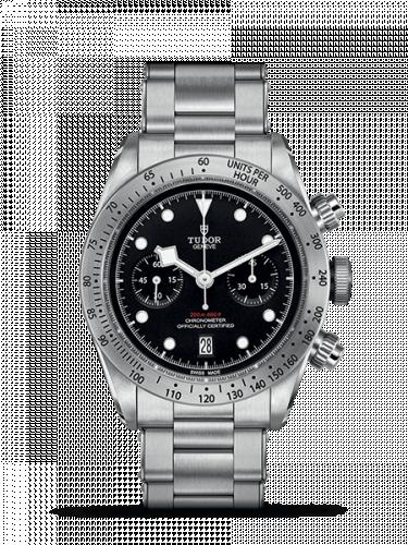 79350-0001 : Tudor Heritage Black Bay Black Chronograph / Bracelet