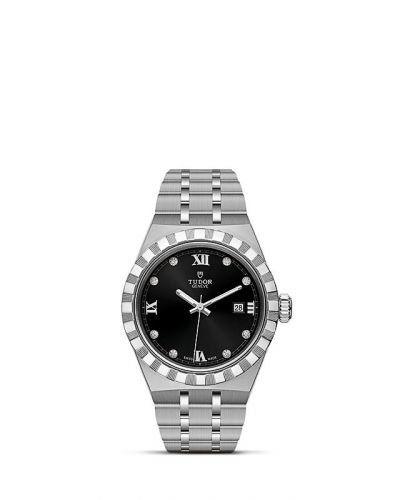 Tudor M28300-0004 : Royal Date 28 Stainless Steel / Black - Diamond