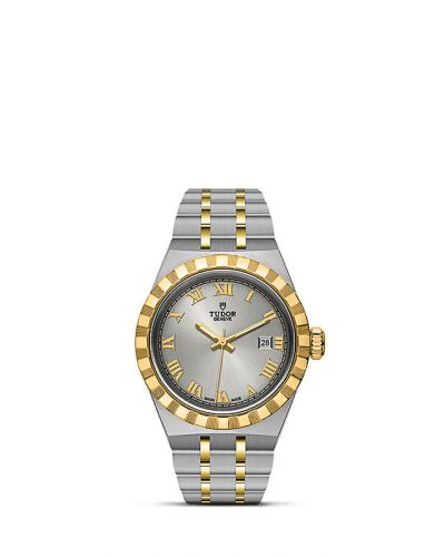 Tudor M28303-0001 : Royal Date 28 Stainless Steel / Yellow Gold / Silver - Roman