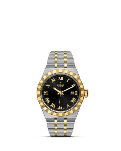 Tudor M28303-0003 : Royal Date 28 Stainless Steel / Yellow Gold / Black - Roman