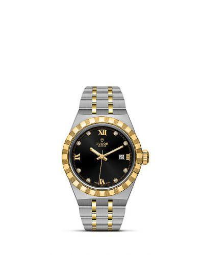 Tudor M28303-0005 : Royal Date 28 Stainless Steel / Yellow Gold / Black - Diamond