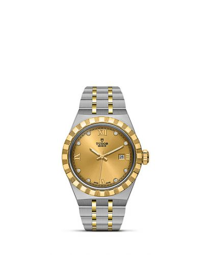 Tudor M28303-0006 : Royal Date 28 Stainless Steel / Yellow Gold / Champagne - Diamond