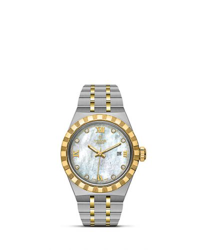 Tudor M28303-0007 : Royal Date 28 Stainless Steel / Yellow Gold / MOP