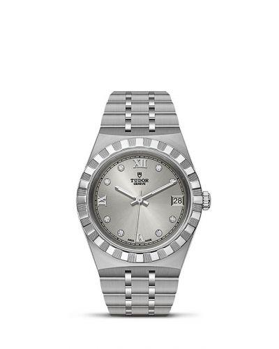Tudor M28400-0002 : Royal Date 34 Stainless Steel / Silver - Diamond