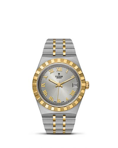 Tudor M28403-0001 : Royal Date 34 Stainless Steel / Yellow Gold / Silver - Roman