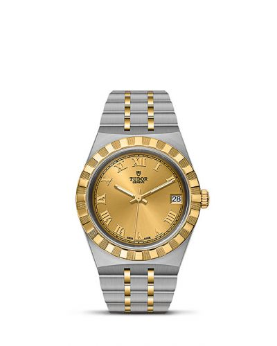 Tudor M28403-0004 : Royal Date 34 Stainless Steel / Yellow Gold / Champagne - Roman