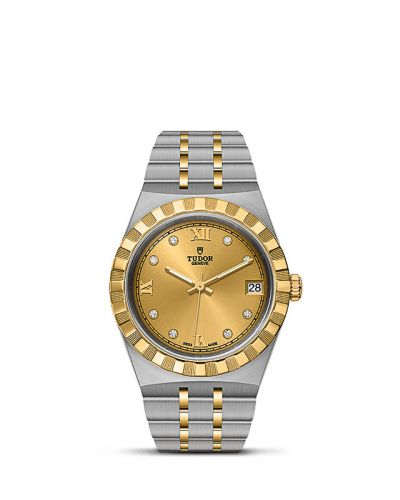 Tudor M28403-0006 : Royal Date 34 Stainless Steel / Yellow Gold / Champagne - Diamond