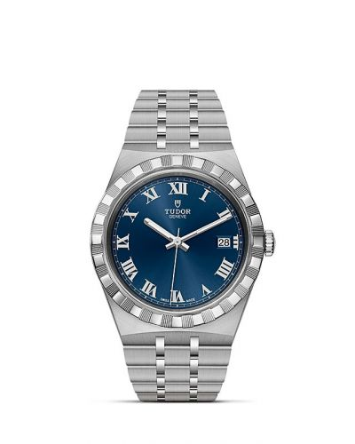 M28500-0005 : Tudor Royal Date 38 Stainless Steel / Blue - Roman