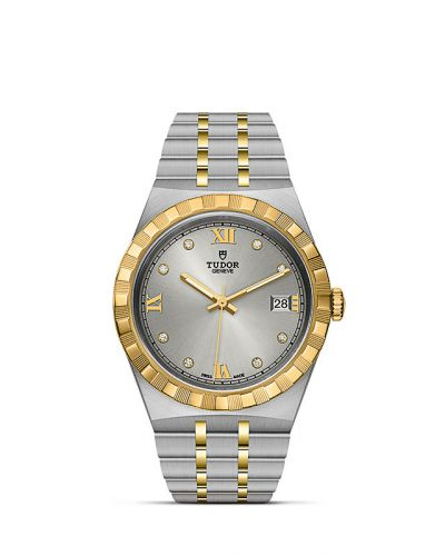 M28503-0002 : Tudor Royal Date 38 Stainless Steel / Yellow Gold / Silver - Diamond