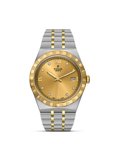 Tudor M28503-0005 : Royal Date 38 Stainless Steel / Yellow Gold / Champagne - Diamond