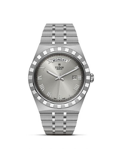 Tudor M28600-0001 : Royal Day-Date 41 Stainless Steel / Silver - Roman