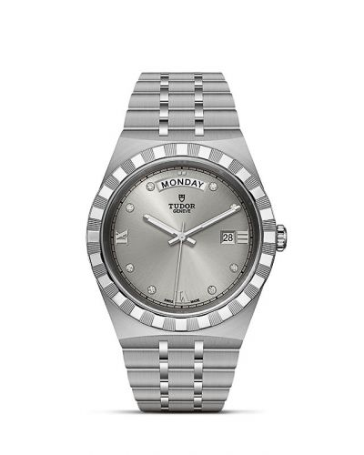 Tudor M28600-0002 : Royal Day-Date 41 Stainless Steel / Silver - Diamond