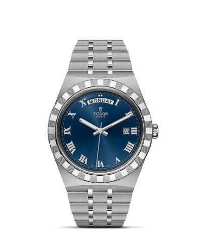 M28600-0005 : Tudor Royal Day-Date 41 Stainless Steel / Blue - Roman