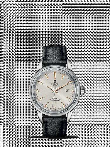 Tudor M12100-0020 : Style 28 Stainless Steel / Silver-Diamond / Strap