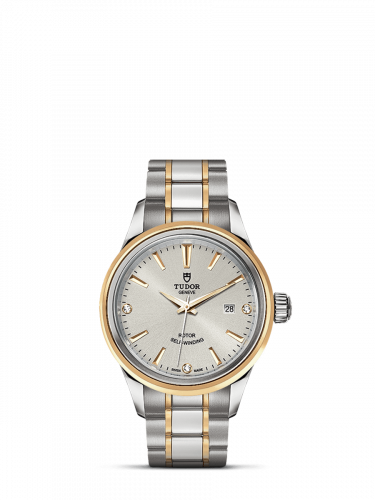Tudor M12103-0005 : Style 28 Stainless Steel / Yellow Gold / Silver-Diamond / Bracelet