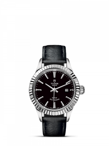 Tudor M12110-0022 : Style 28 Stainless Steel / Fluted / Black / Strap