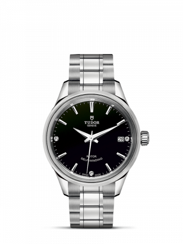 Tudor M12300-0004 : Style 34 Stainless Steel / Black-Diamond / Bracelet