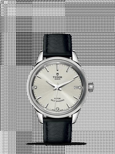Tudor M12300-0007 : Style 34 Stainless Steel / Silver-Diamond / Strap