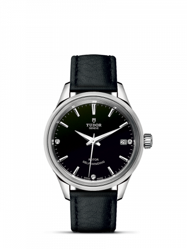 Tudor M12300-0008 : Style 34 Stainless Steel / Black-Diamond / Strap
