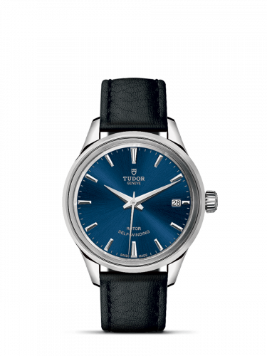 Tudor M12300-0016 : Style 34 Stainless Steel / Blue / Strap