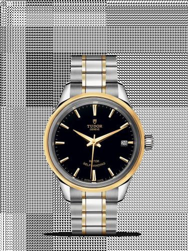 Tudor M12303-0003 : Style 34 Stainless Steel / Yellow Gold / Black / Bracelet