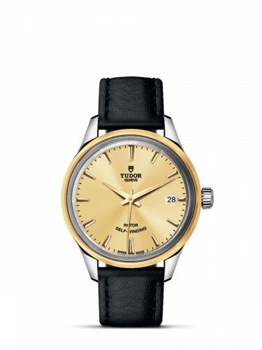 Tudor M12303-0007 : Style 34 Stainless Steel / Yellow Gold / Champagne / Strap