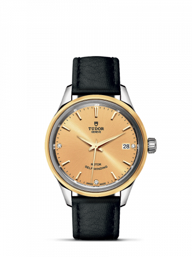 Tudor M12303-0010 : Style 34 Stainless Steel / Yellow Gold / Champagne-Diamond / Strap