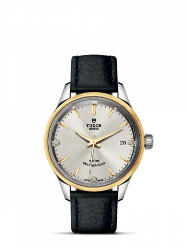 Tudor M12303-0011 : Style 34 Stainless Steel / Yellow Gold / Silver-Diamond / Strap