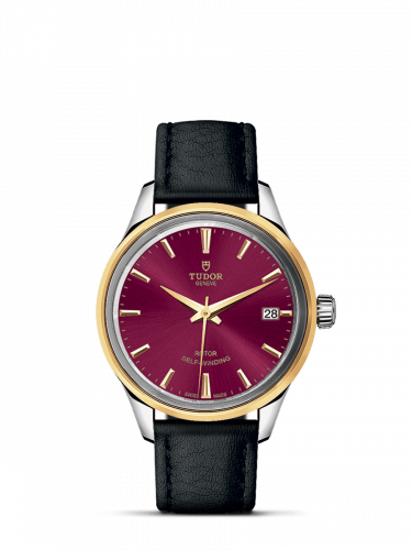 Tudor M12303-0014 : Style 34 Stainless Steel / Yellow Gold / Burgundy / Strap